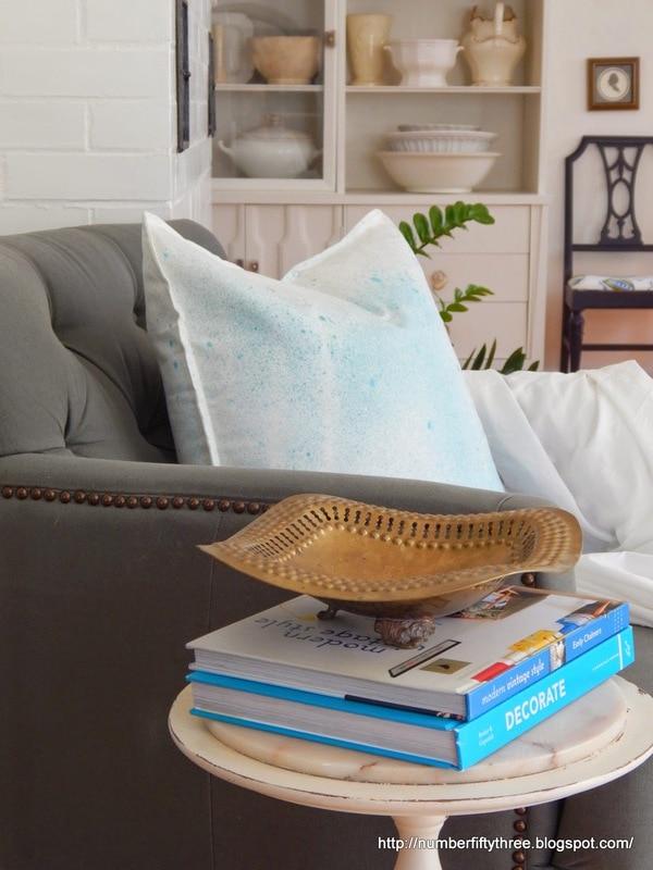 DIY splatter pillow cover