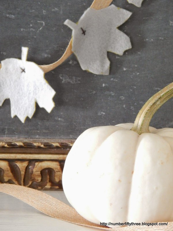 Felt is a great fall crafting material