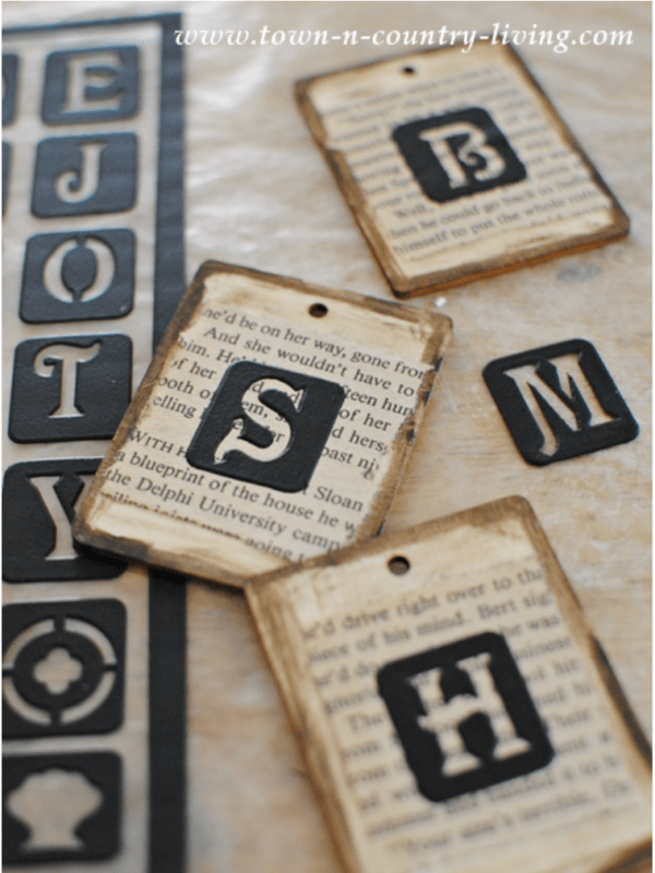 Making tags with stickers and books pages