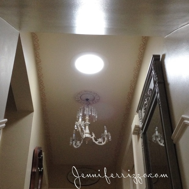 A tubular sky light in a dark hall way can make a huge difference in adding light!