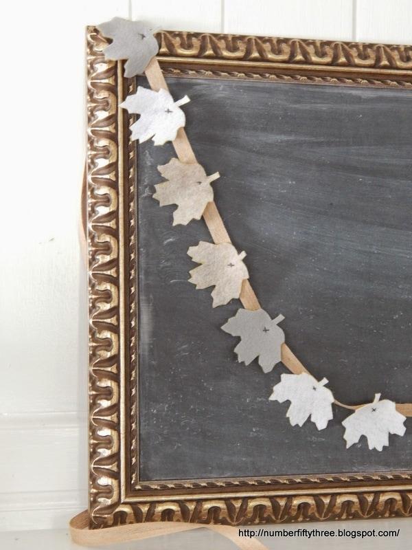 How to make an Easy felt leaf garland