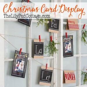 fun way to display Christmas cards