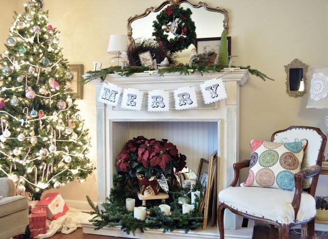 Seven years of Christmas tree decorating - Jennifer Rizzo