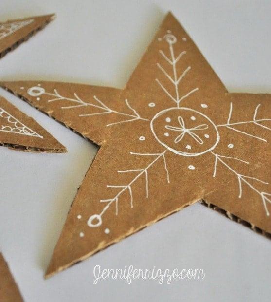 Embellish cardboard with a white gel pen