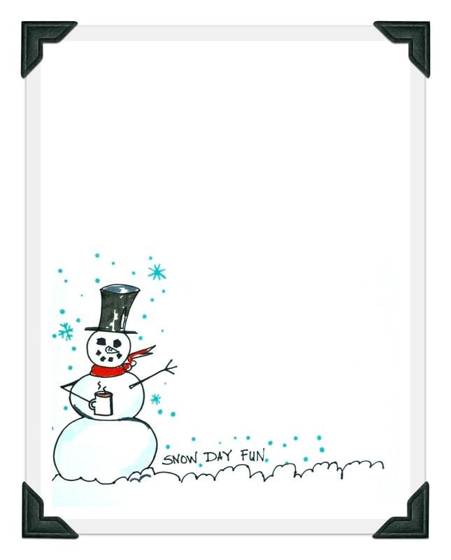 Snowman Printable With Clipboard DIY Photo Display