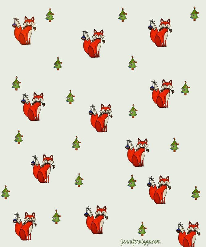 Fun Foxy Christmas printable