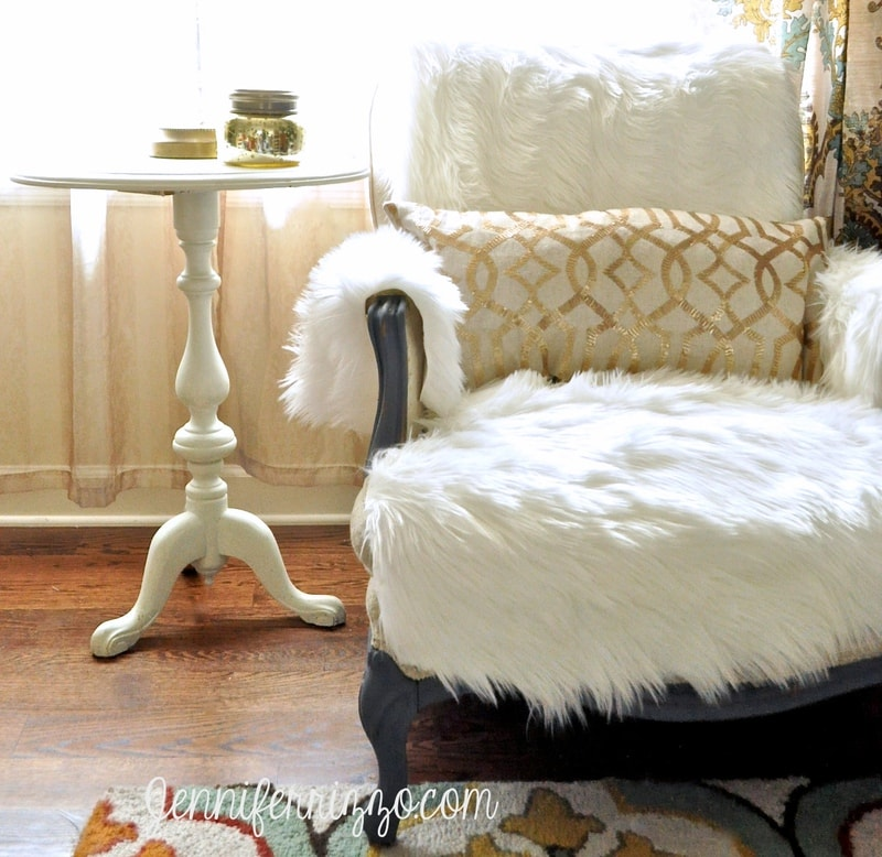 DIY Flokati Rug Chair Cover