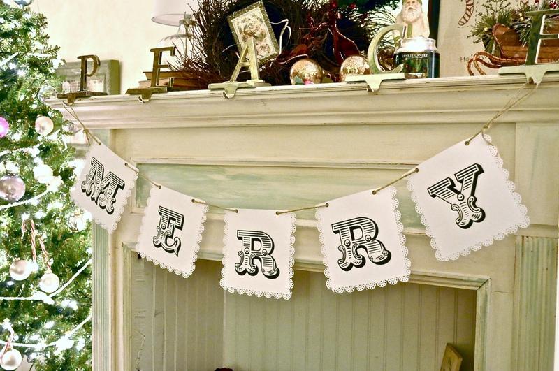 Make a Merry Christmas banner!