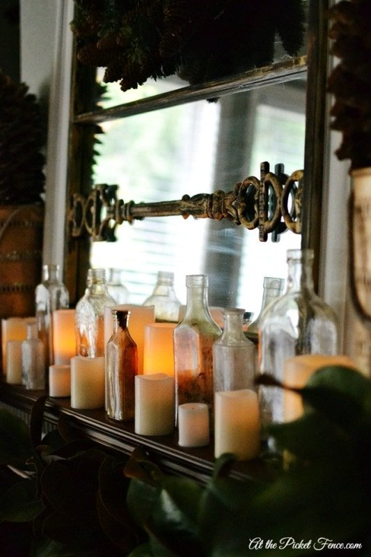 Bottles and candle from At the picket Fence