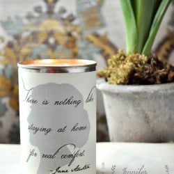 Make battery operated candle containers from old cans
