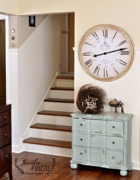 Love the dresser and clock combo