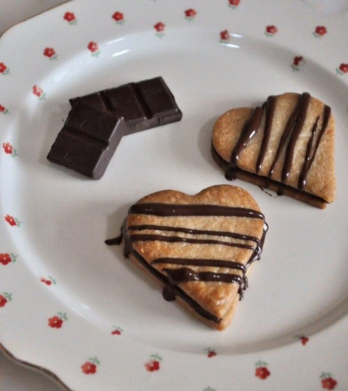 Heart-shaped pie crust cookies