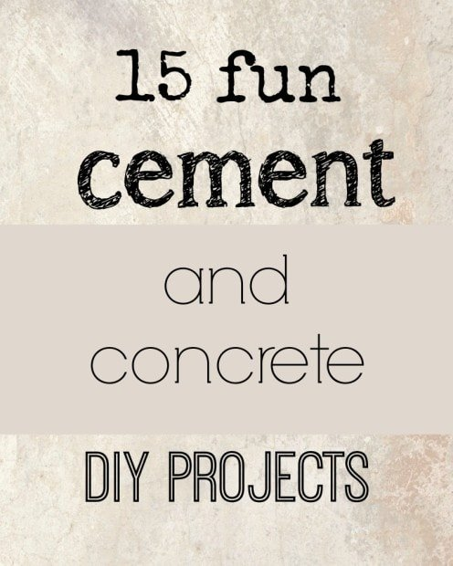 15 fun cement and concrete DIY projects