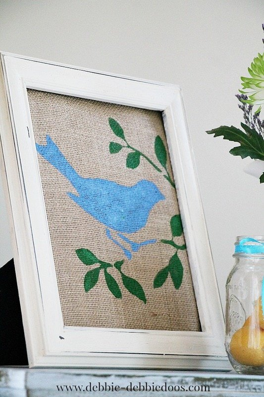 Blue spring crafts and decor