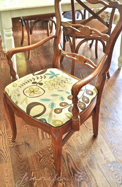 How to use a 20 x 20 pillow for chair reupholstery…..