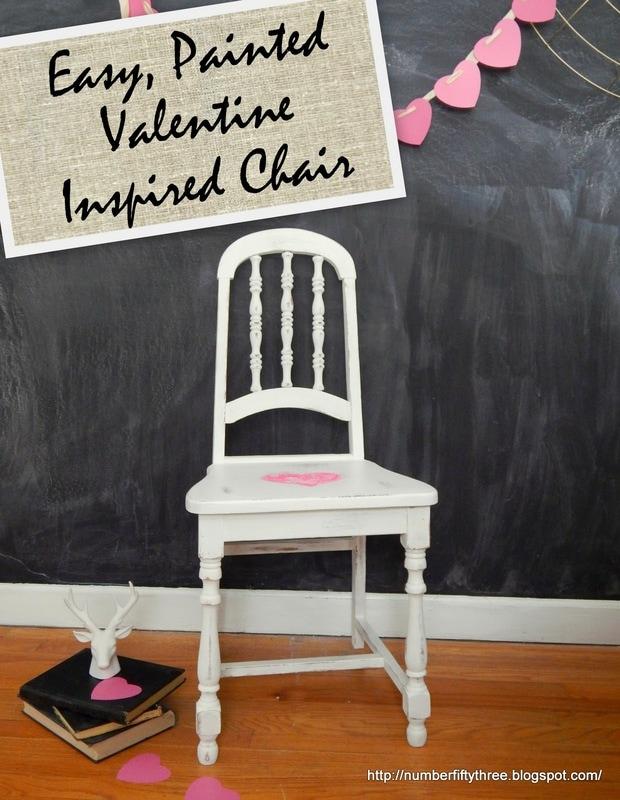 Valentine's inspired heart chair