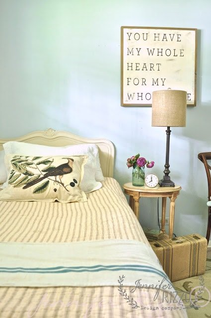 Restful guest room makeover from shopping your home