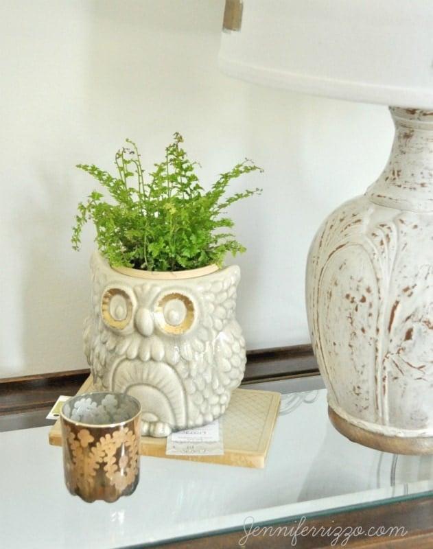 Fun owl planter