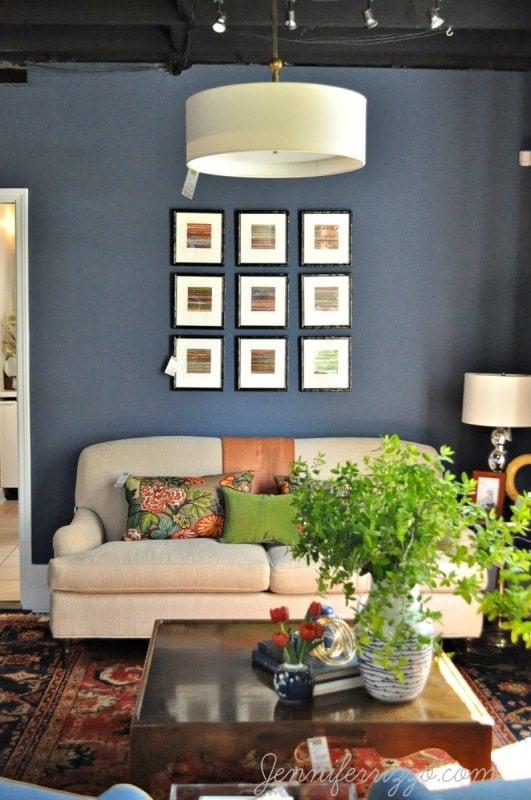 If you have a dark living room,make your furniture lighter.