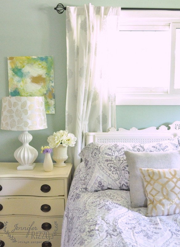Bedroom update with modern bohemian bedding