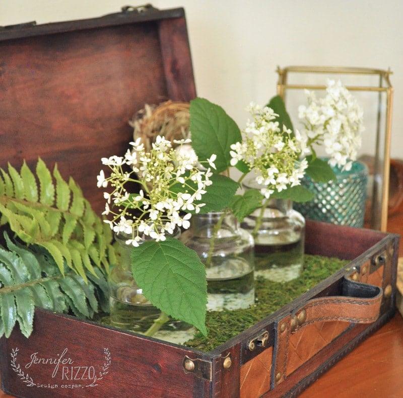 Make a DIY suitcase vase