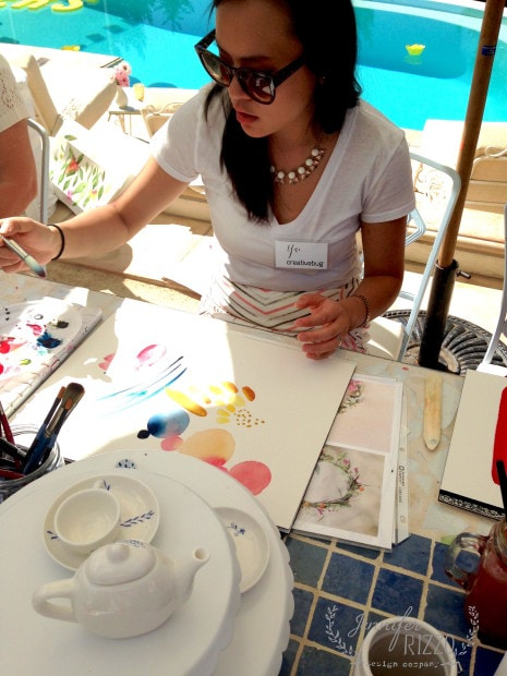 Water color class with Yao Cheng