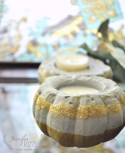 Make DIY concrete votive holders