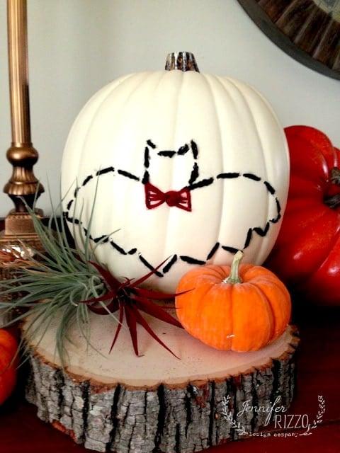 DIY easy embroidered pumpkin