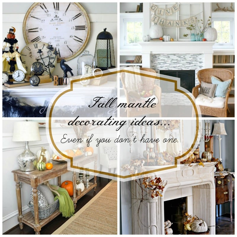 Instagram Fall Decorating Ideas: Fall Mantle Decorating Ideas