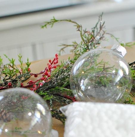 How to make botanical glass ball ornaments