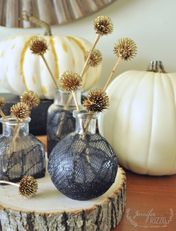 DIY decoupage Halloween bottles
