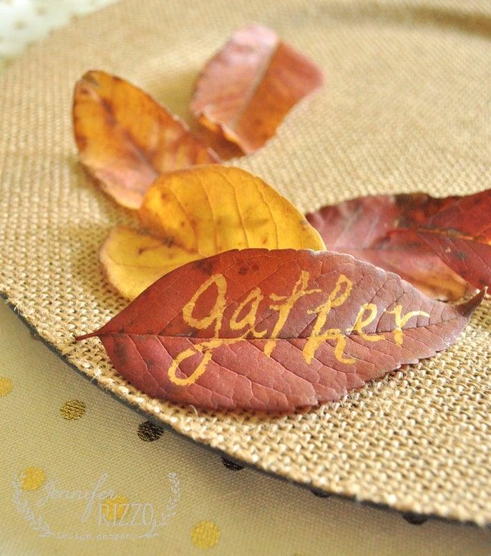 easy gathered leaf art