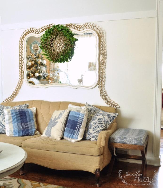 Bohemian Christmas living room decor