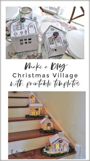 How to make a DIY Christmas village with printable templates
