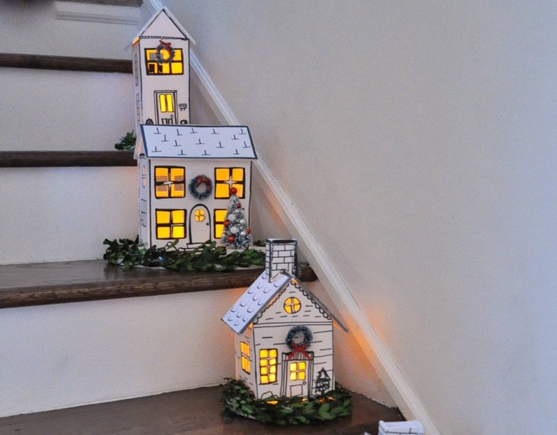 Hand Made Foam Core Sharpie Diy Holiday Houses Jennifer Rizzo