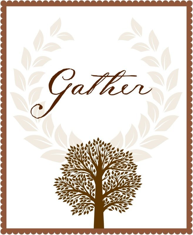 Thanksgiving printable and  place cards