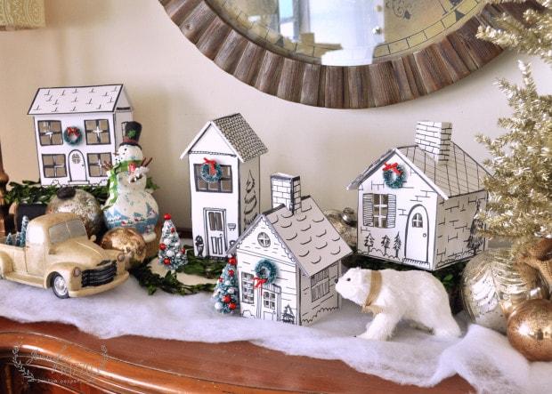 mini hand drawn houses