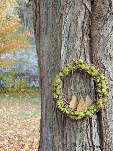 Rustic woodland wreath