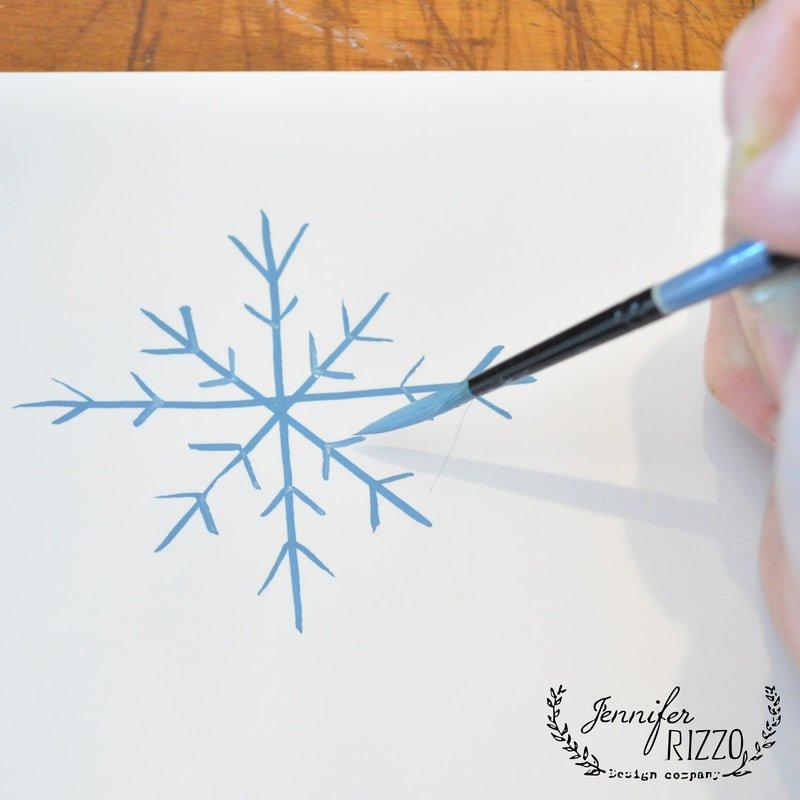 how to paint a snowflake   jennifer rizzo