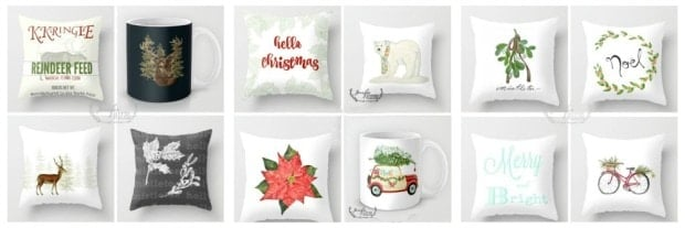 Christmas pillows and decor by Jennifer Rizzo