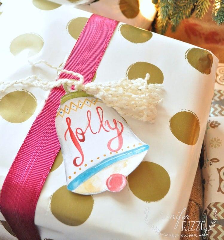Christmas bell gift tags and printables