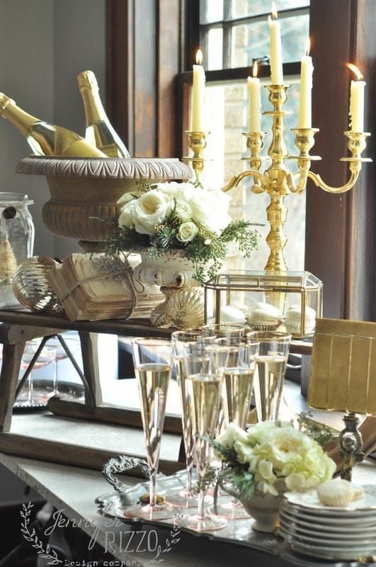 Elegant and romantic New Year's Eve party idea - Jennifer ...
