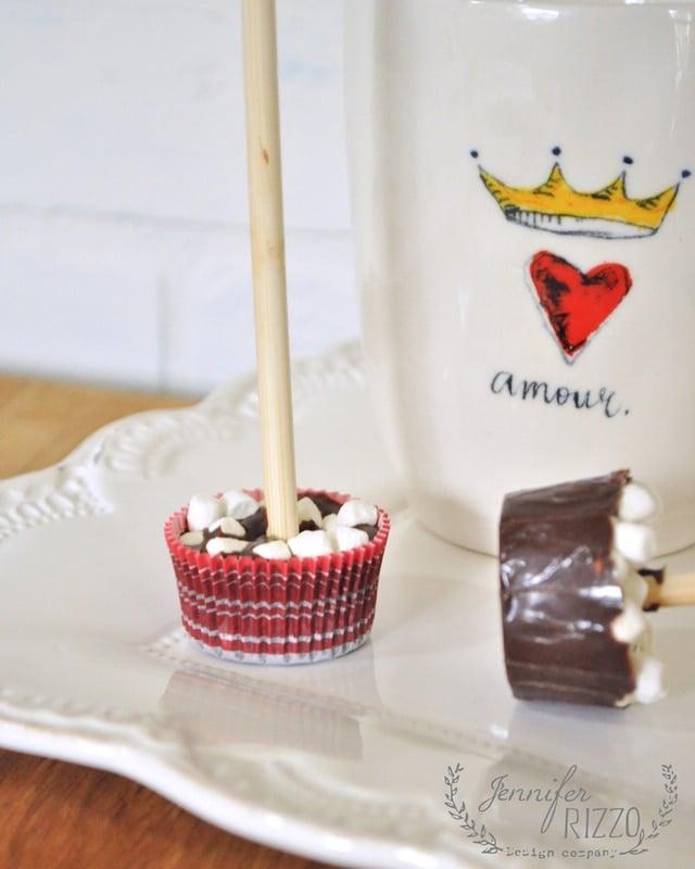 Fun miniature hot cocoa cups