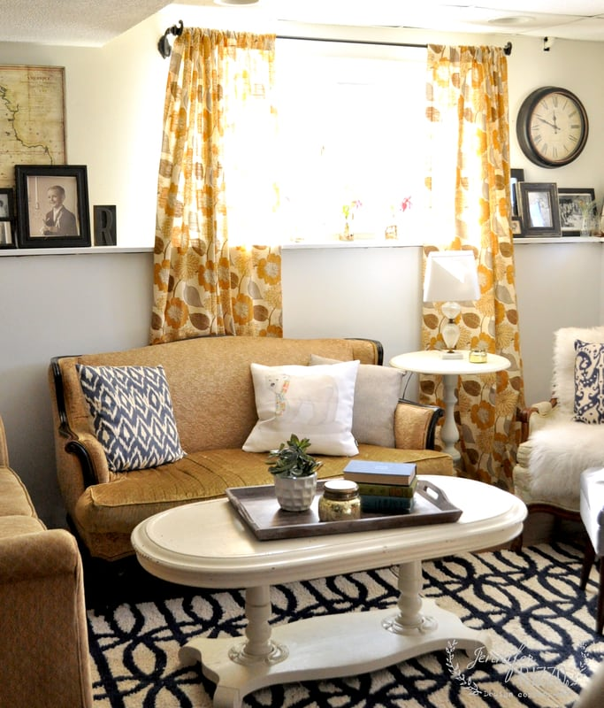 Downstairs Family Room Ideas-Color Lovers Makeover