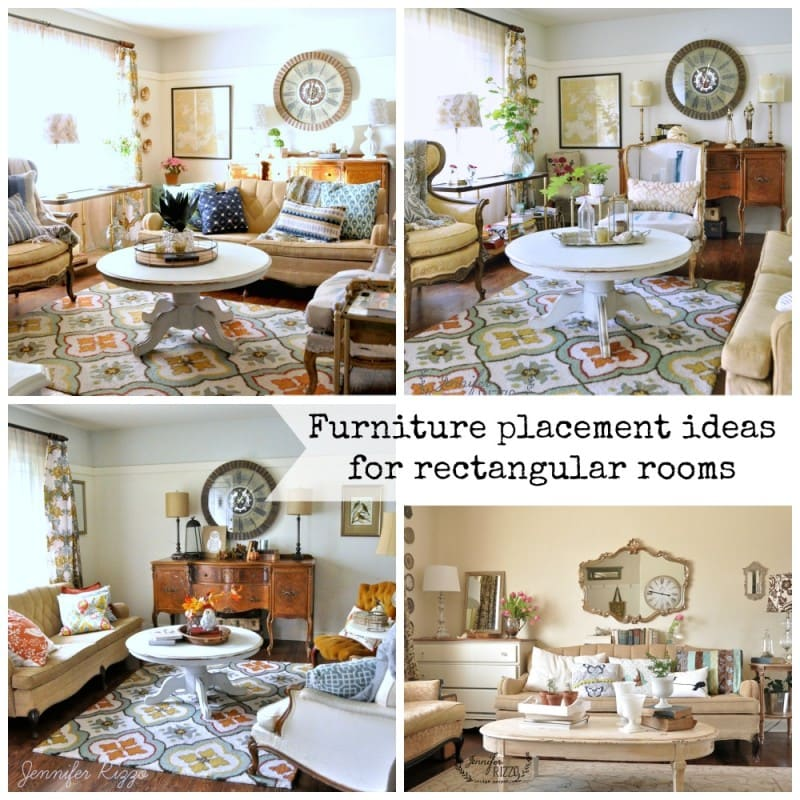 Furniture Placement In A Rectangular Room The Living