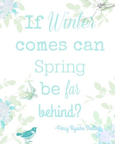 Spring quote printable