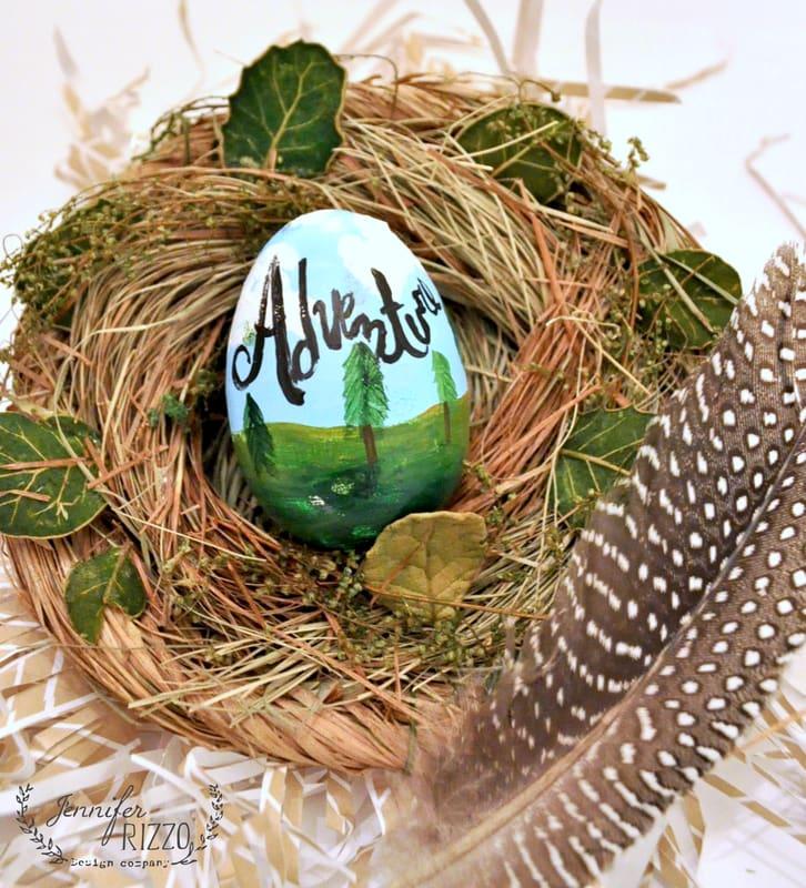 Adventurously painted plastic Easter egg decorating idea