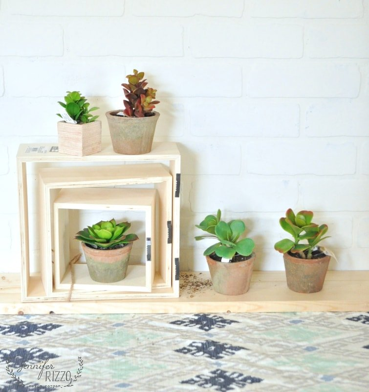Easy spring update-DIY succulent shadow boxes