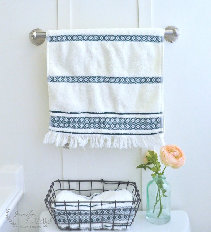 Decorating Bathroom Baskets Towels : Pretty late spring bathroom updates jennifer rizzo