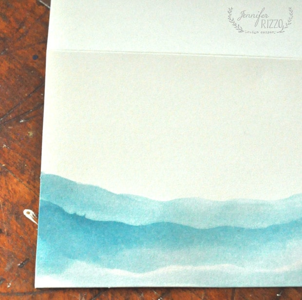 Step 3 DIY watercolor notecard